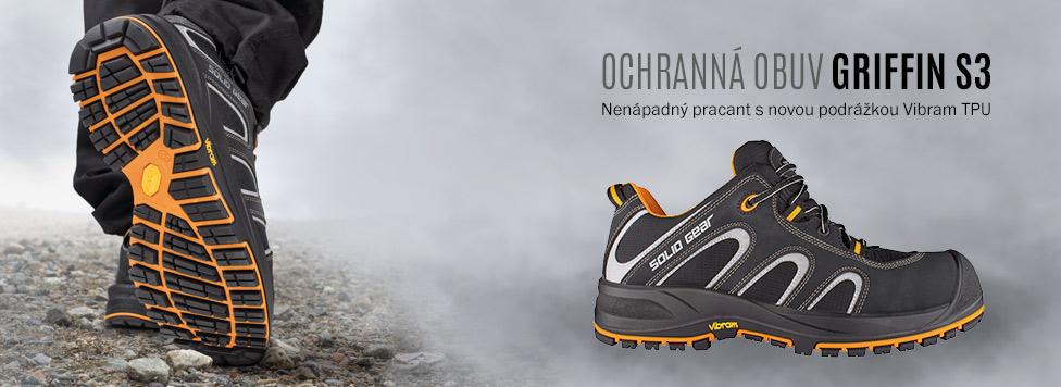 Moderní pracovní boty s chráničem špičky Griffin S3