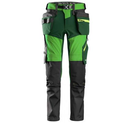 Kalhoty FlexiWork+ Stretch softshell s PK zelené
