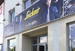 Prodejna Snickersworkwear v Českých Budějovicích