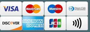 Platební karty přijímané na této prodejně